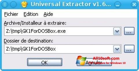צילום מסך Universal Extractor Windows 10