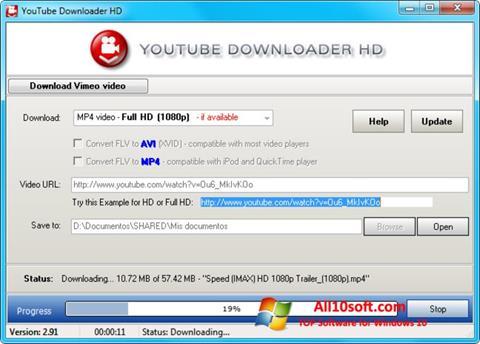 צילום מסך Youtube Downloader HD Windows 10