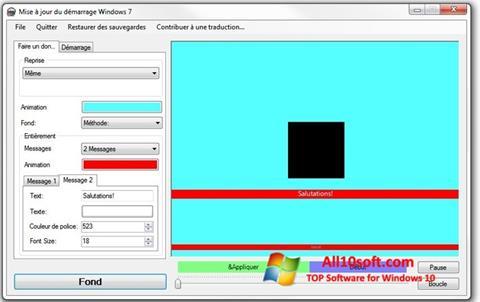 צילום מסך Boot Updater Windows 10