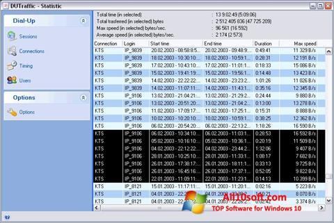 צילום מסך DUTraffic Windows 10