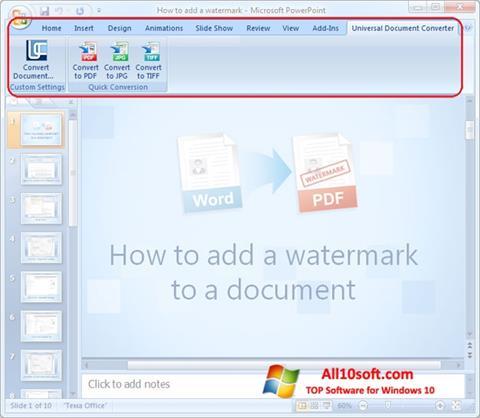 צילום מסך Microsoft PowerPoint Windows 10