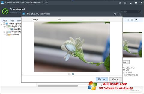 צילום מסך USB Flash Drive Recovery Windows 10