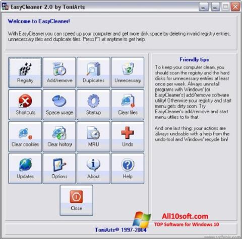צילום מסך EasyCleaner Windows 10