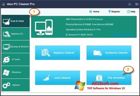 צילום מסך PC Cleaner Windows 10