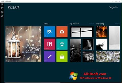 צילום מסך PicsArt Windows 10