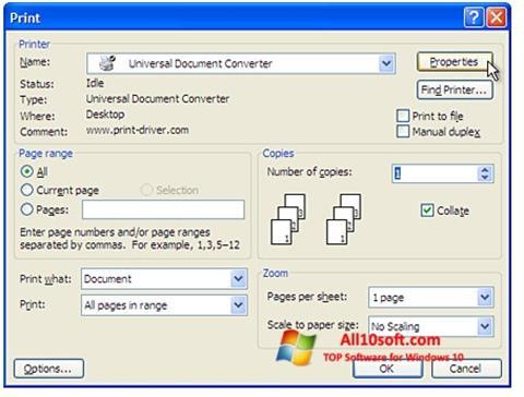 צילום מסך Universal Document Converter Windows 10