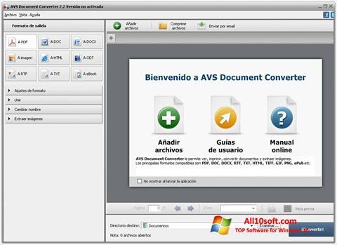 צילום מסך AVS Document Converter Windows 10