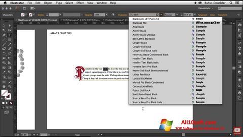 צילום מסך Adobe Illustrator Windows 10