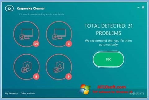 צילום מסך Kaspersky Cleaner Windows 10
