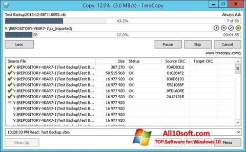 צילום מסך TeraCopy Windows 10