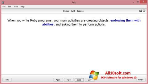 צילום מסך Anki Windows 10