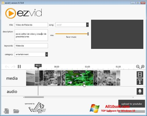צילום מסך Ezvid Windows 10