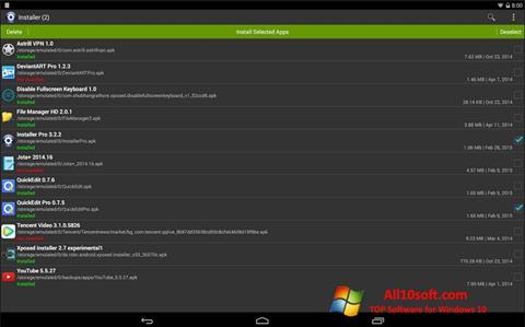 צילום מסך InstAllAPK Windows 10