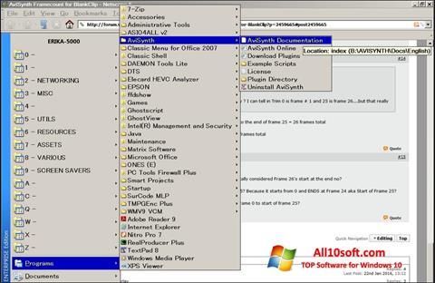 צילום מסך AviSynth Windows 10