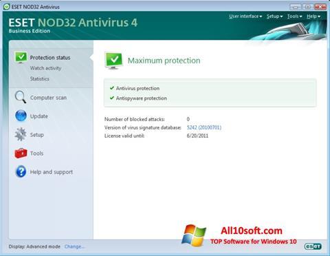צילום מסך ESET NOD32 Windows 10