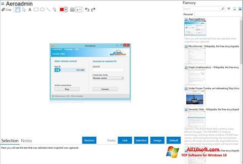 צילום מסך AeroAdmin Windows 10