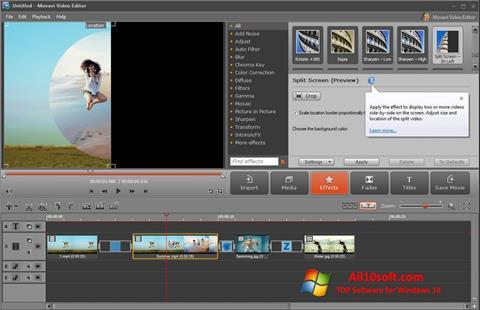 צילום מסך Movavi Video Editor Windows 10
