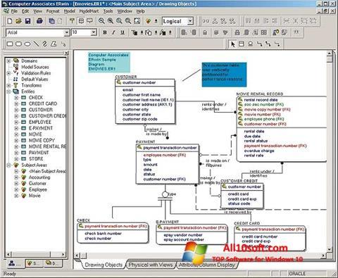 צילום מסך ERWin Windows 10