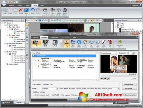 צילום מסך Free Video Editor Windows 10