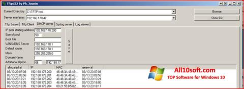 צילום מסך Tftpd32 Windows 10