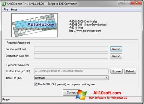 צילום מסך AutoHotkey Windows 10