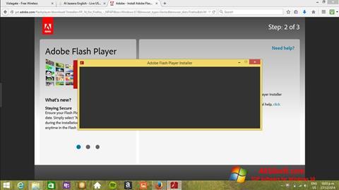 צילום מסך Adobe Flash Player Windows 10