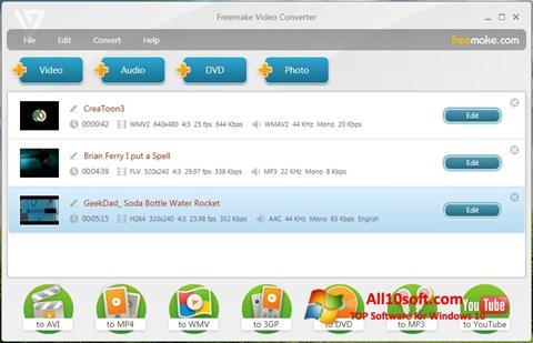 צילום מסך Freemake Video Converter Windows 10