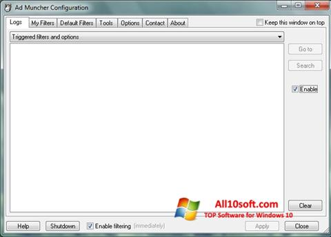 צילום מסך Ad Muncher Windows 10