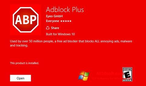 צילום מסך Adblock Plus Windows 10
