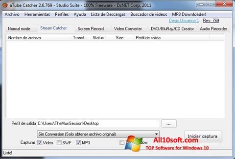 צילום מסך aTube Catcher Windows 10