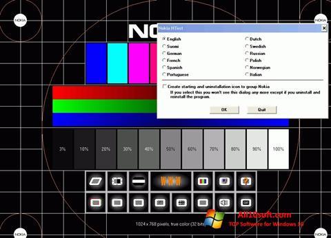 צילום מסך Nokia Monitor Test Windows 10