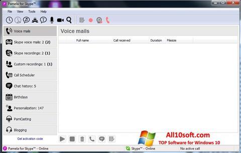 צילום מסך Pamela for Skype Windows 10