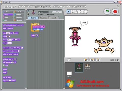 צילום מסך Scratch Windows 10