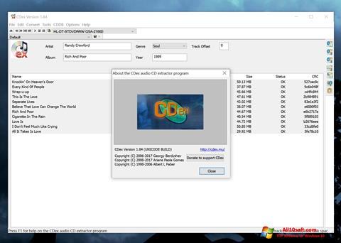 צילום מסך CDex Windows 10