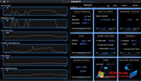 צילום מסך GIGABYTE OC Guru Windows 10